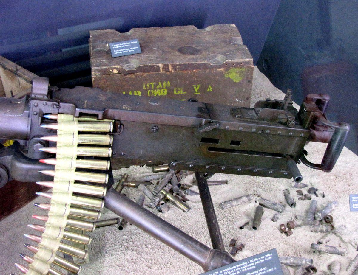 Mitrailleuse Browning M2 HB, musée Utah Beach