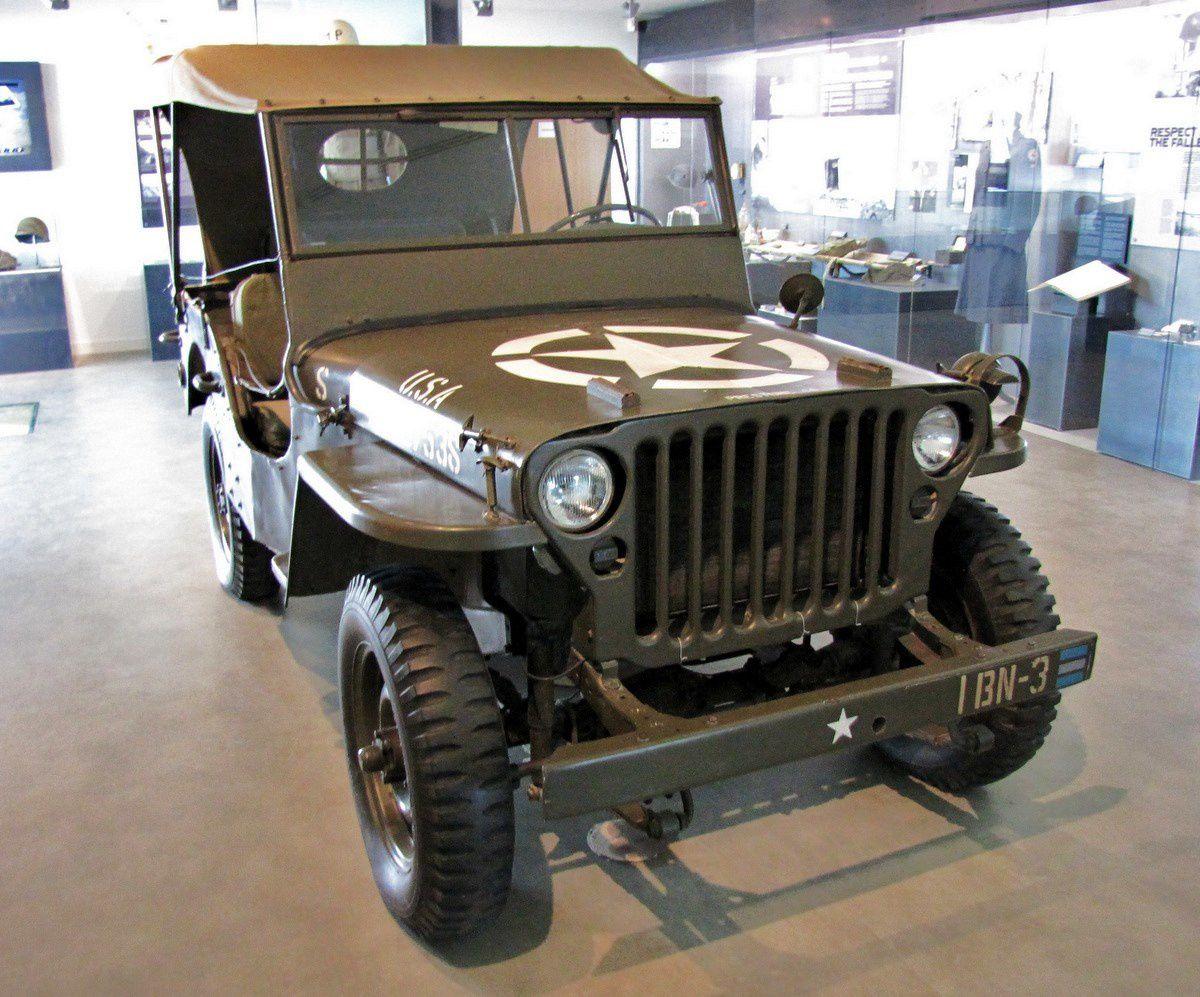 Véhicule jeep, musée Utah Beach