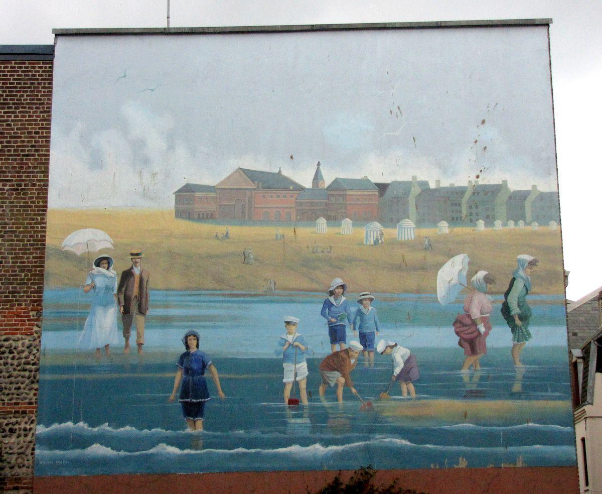 Les fresques de la rue de l'Anguainerie, Le Tréport