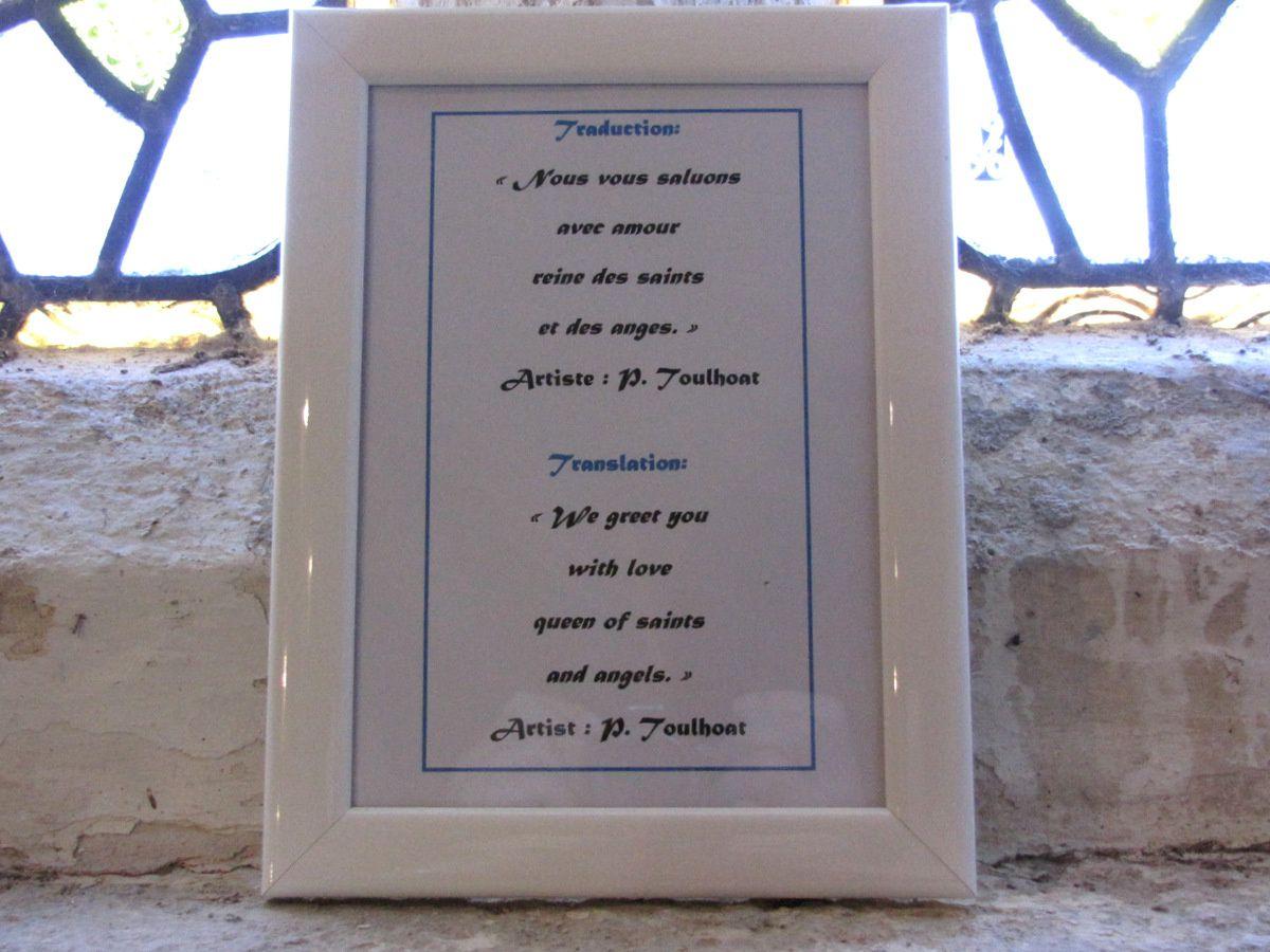 Vitrail de la Vierge, chapelle de Beuzec