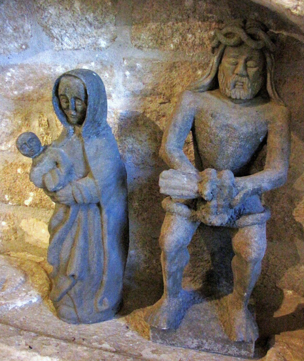 Vierge et Christ en kersanton, chapelle de Beuzec