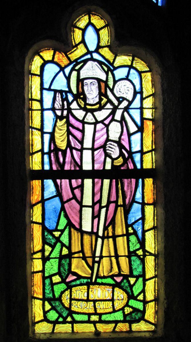 Vitraux Saint Guénolé et saint Budoc, chapelle de Beuzec