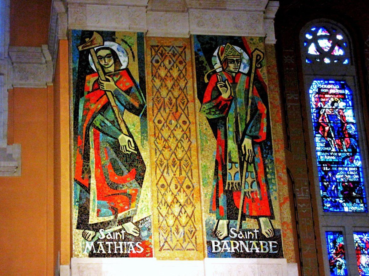 Basilique de Lisieux, portraits de Saints (mosaïque)