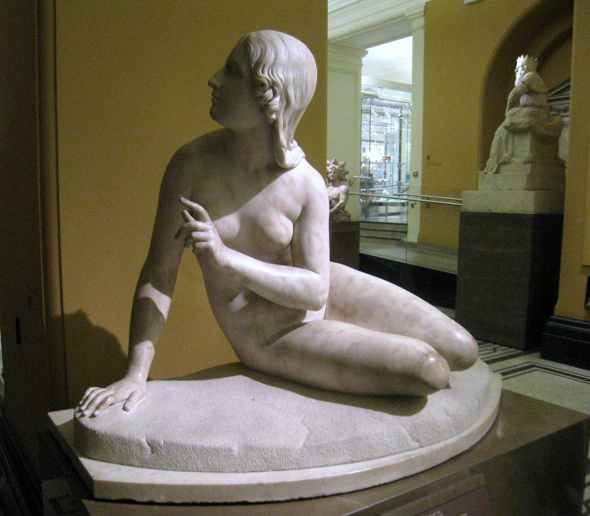 Eve écoutant Adam, sculpture de Edward Hodges Bally