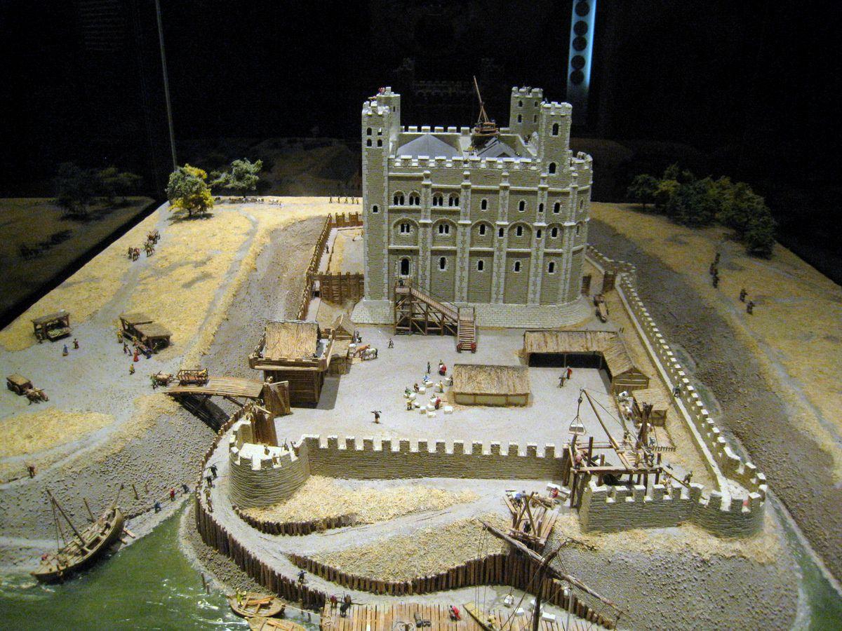 La Tour de Londres, maquette (XIe siècle)