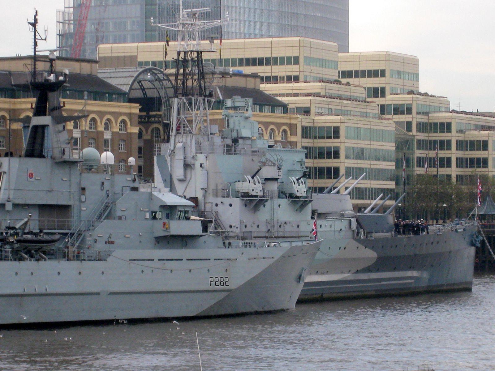 HMS Belfast et HMS Severn (Royal Navy), Londres