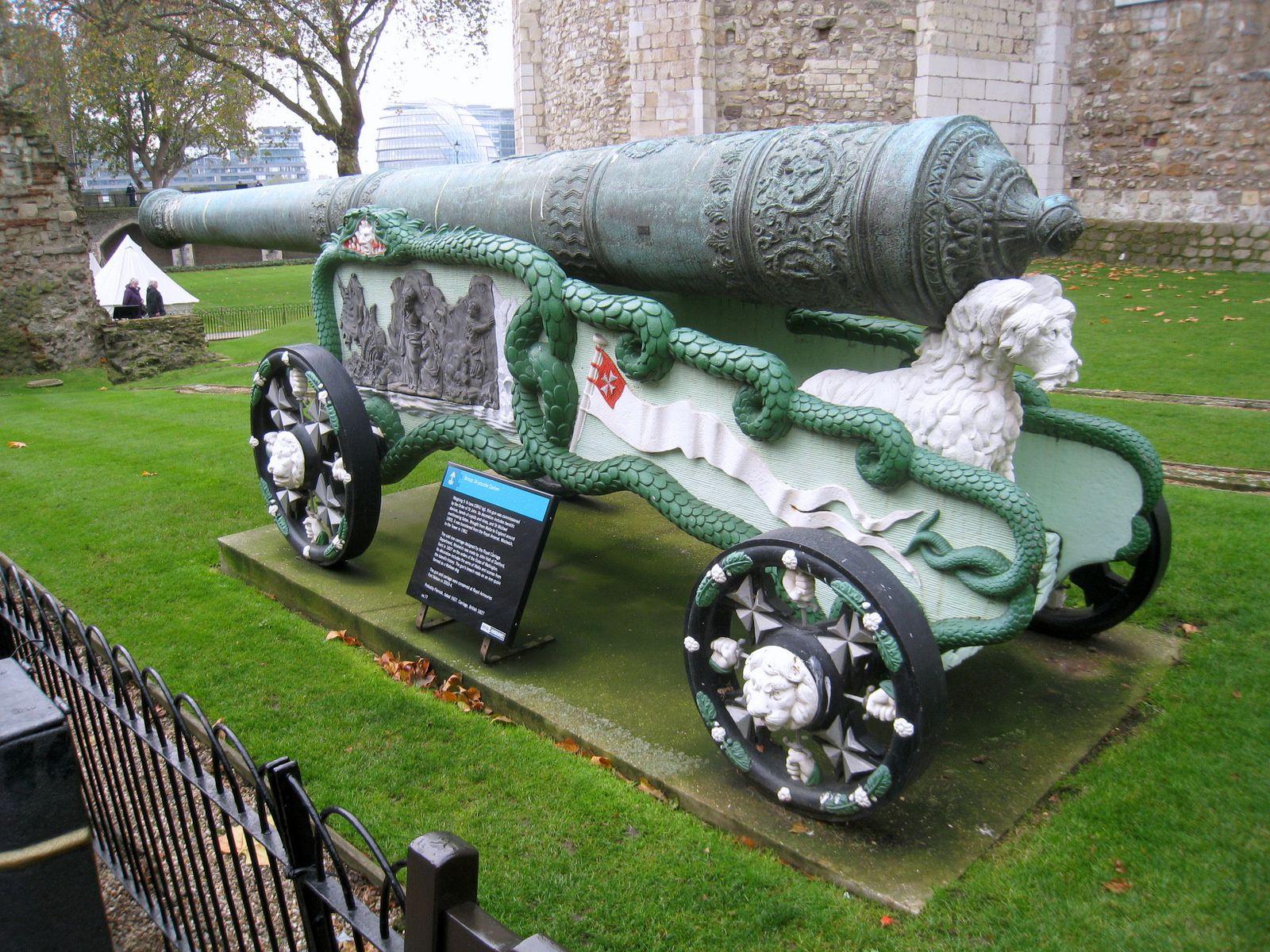 Eléphant et canons, Tour de Londres