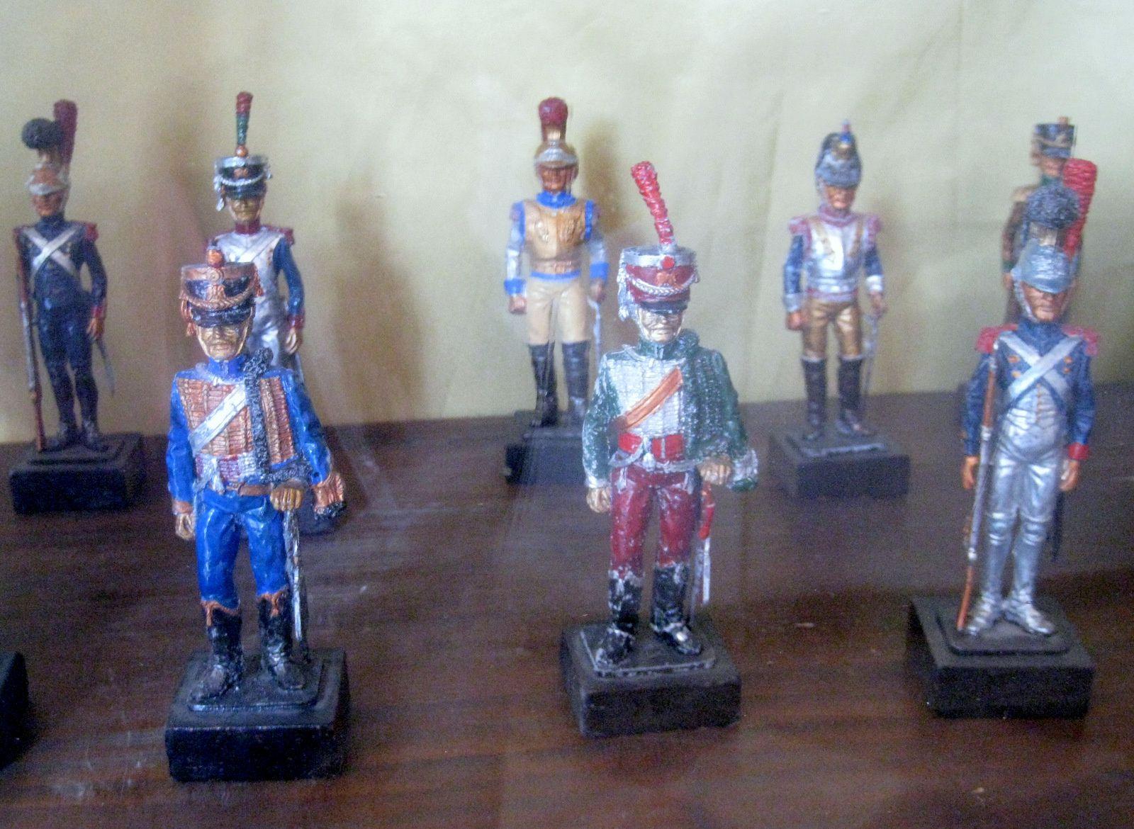 Horloge et soldats miniatures de la chambre du maréchal Lannes