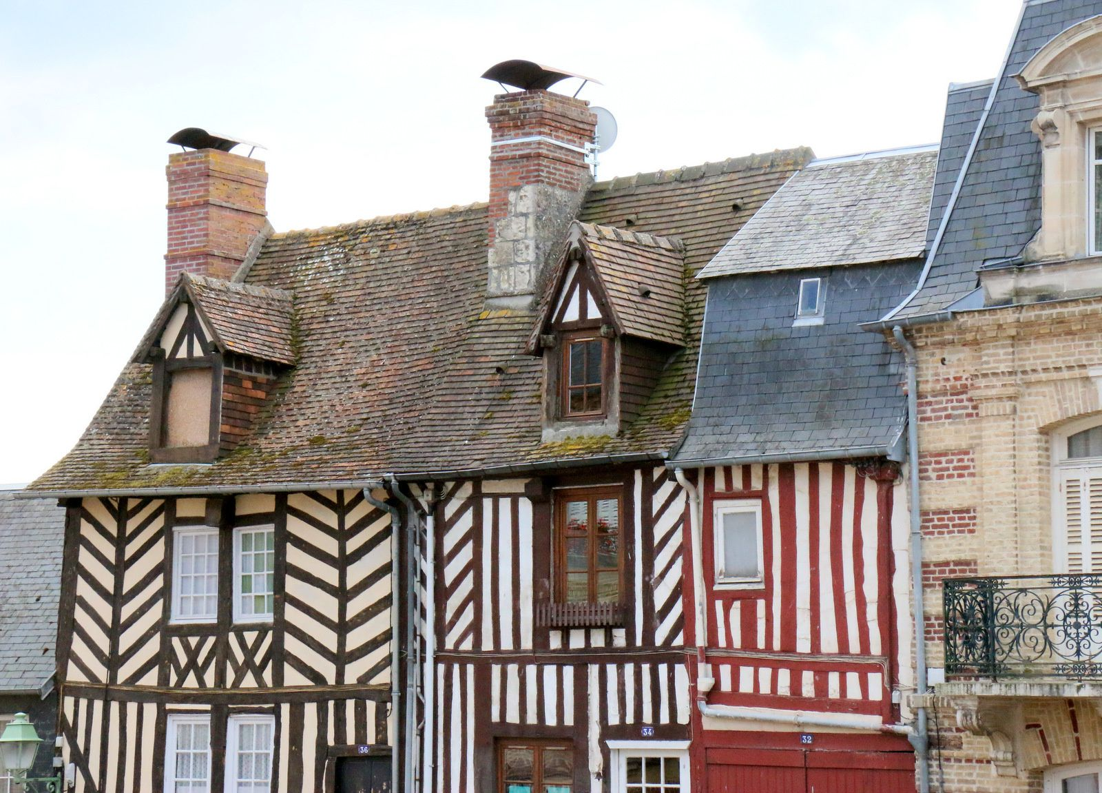 Maisons à colombages (1/2), Beaumont-en-Auge