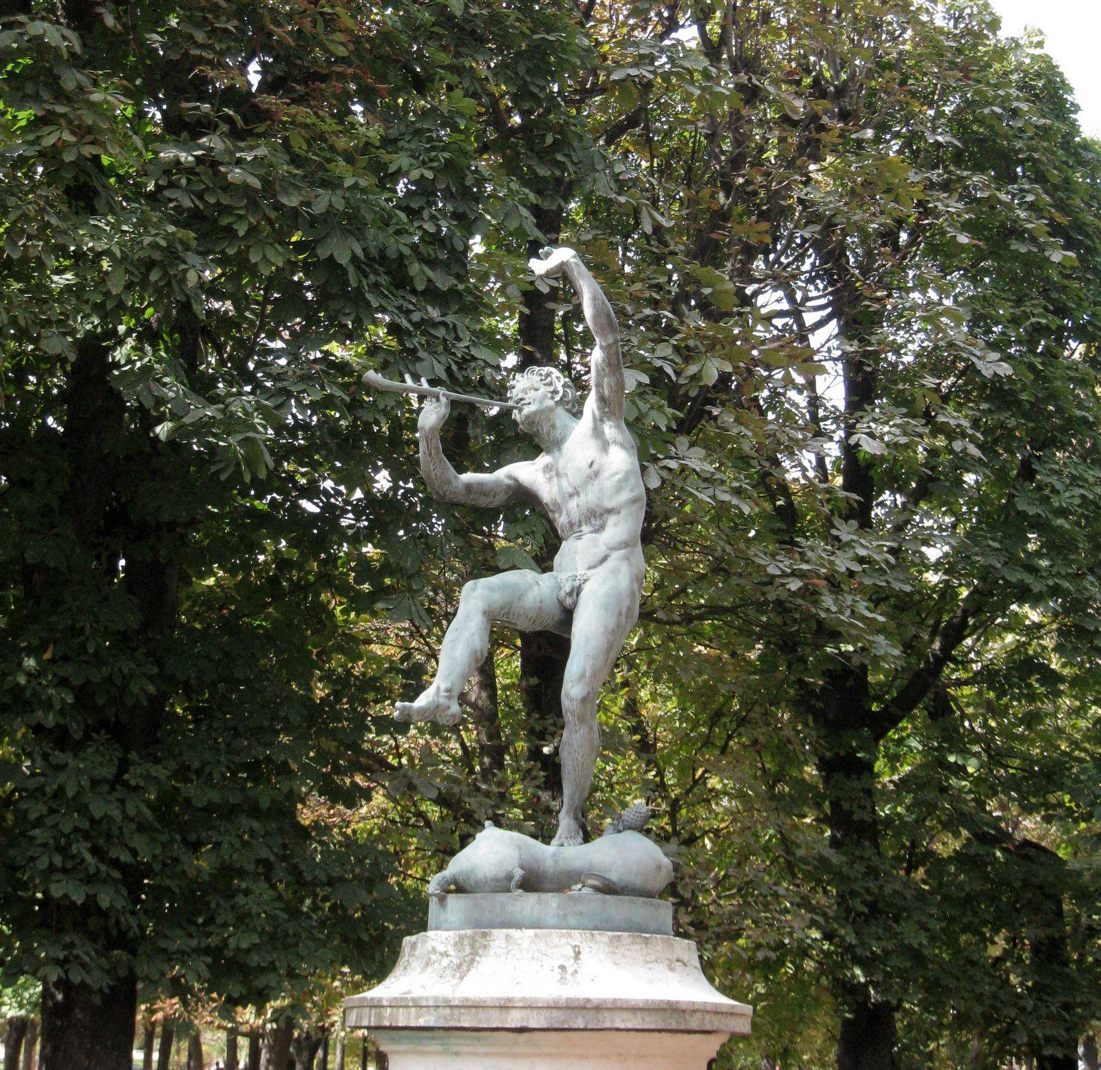 Faune dansant, sculpture d'Eugène-Louis Lequesne