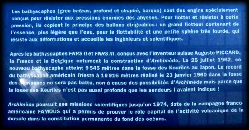 """La bathyscaphe """"Archimède"""", Cité de la Mer à Cherbourg"""