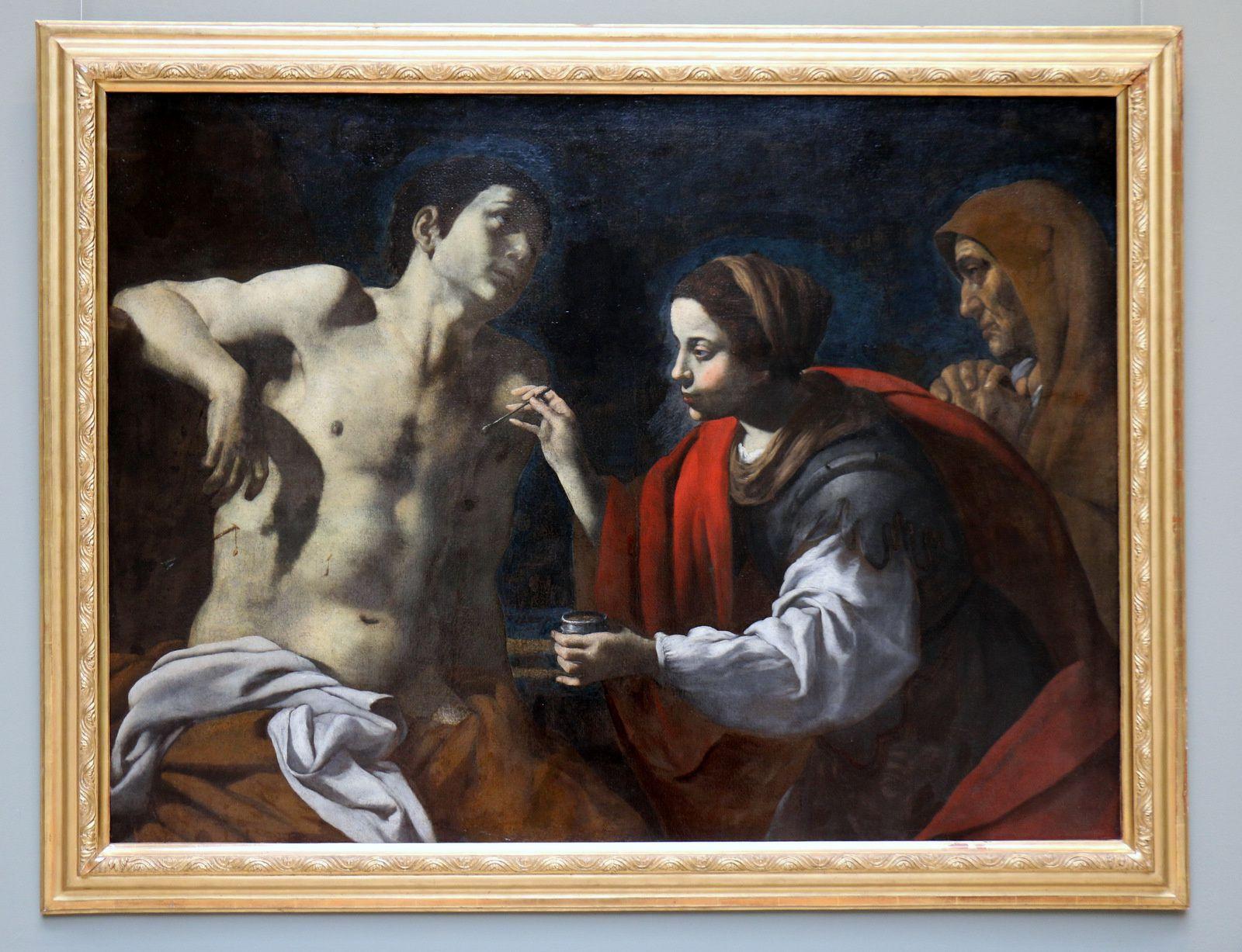 Saint Sébastien soigné par Irène, tableau de Giovan Battista Caracciolo
