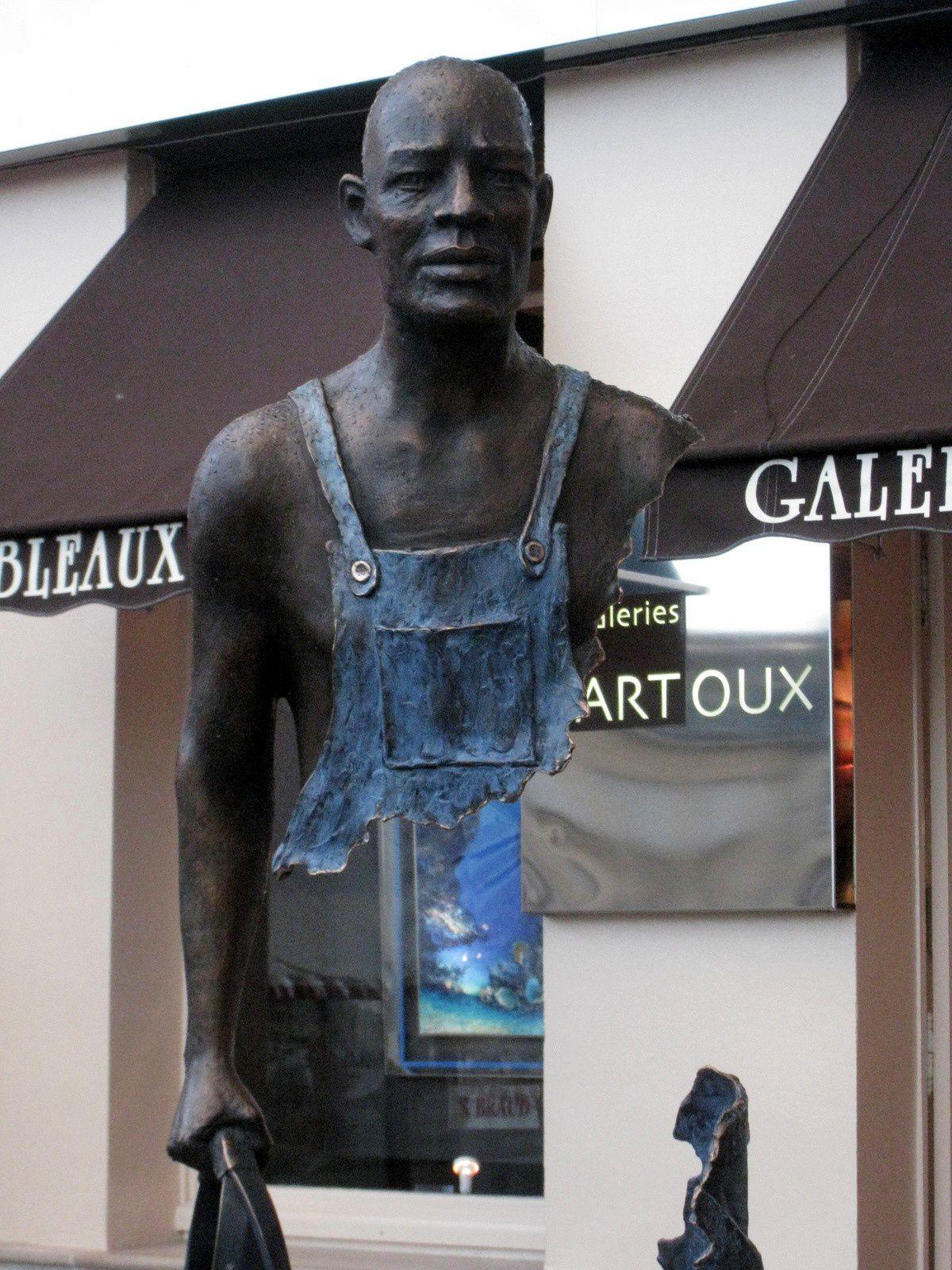 Sculpture de Bruno Catalano, galeries Bartoux de Honfleur