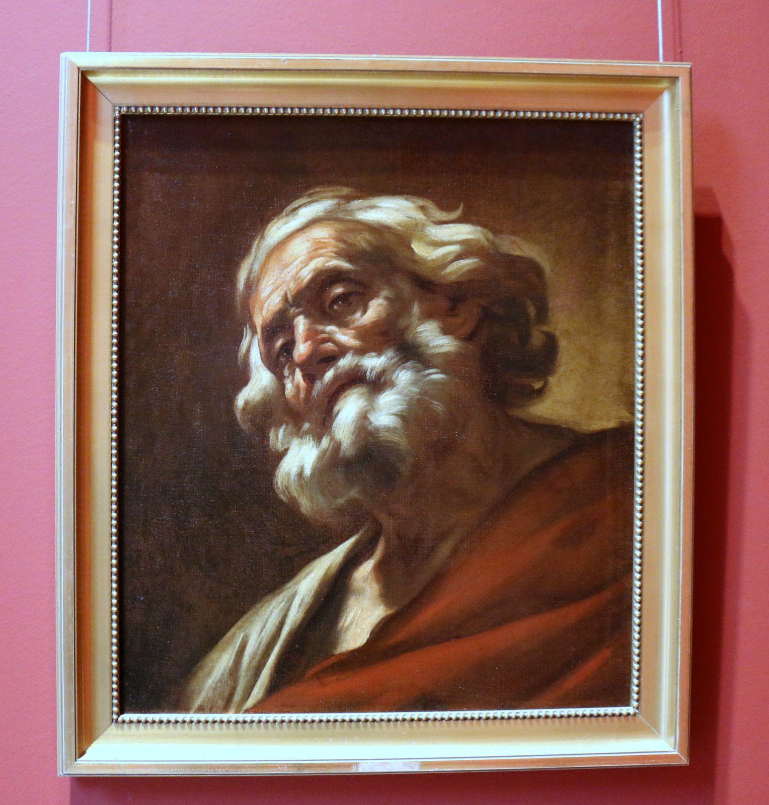 Tête de vieillard, tableau de Giovanni Battista Beinaschi