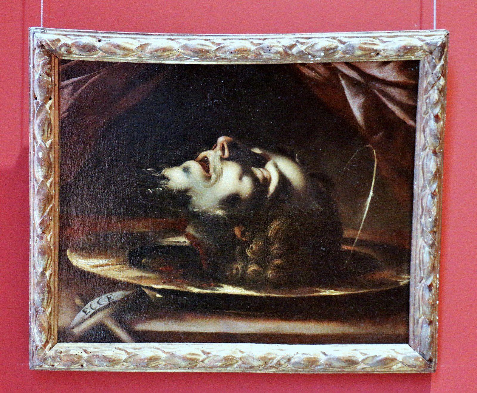 Tête de Saint Jean-Baptiste, tableau de Pier Francesco Mazzucchelli