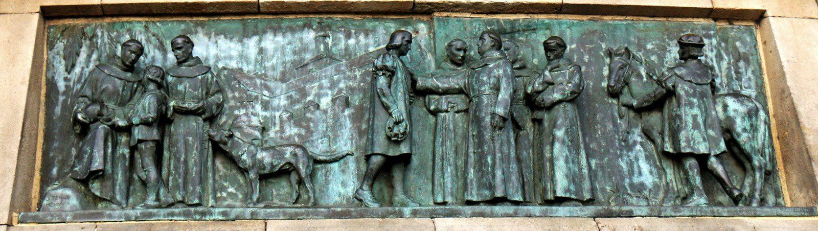 Colomb expliquant son projet au frère Juan Pérez de Marchena