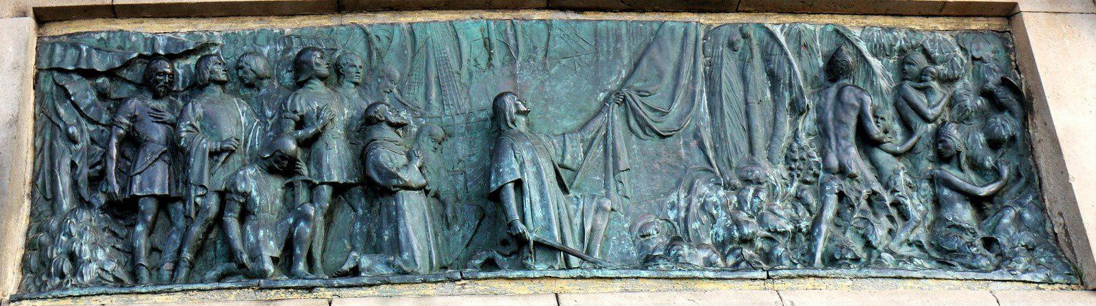 Colomb débarquant à l'île d'Huanahaní, le 12 octobre 1492