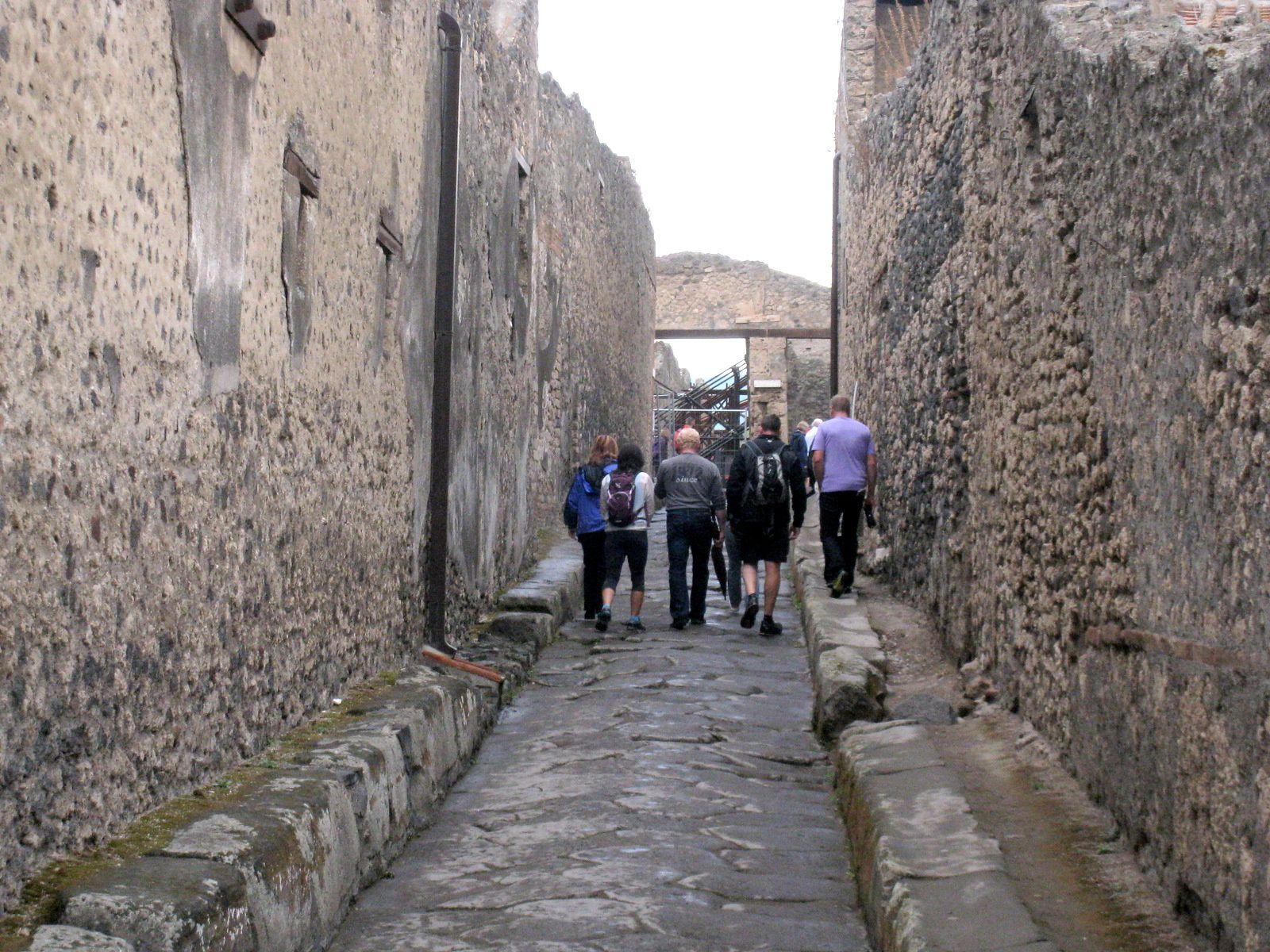 Dans les rues de Pompéi