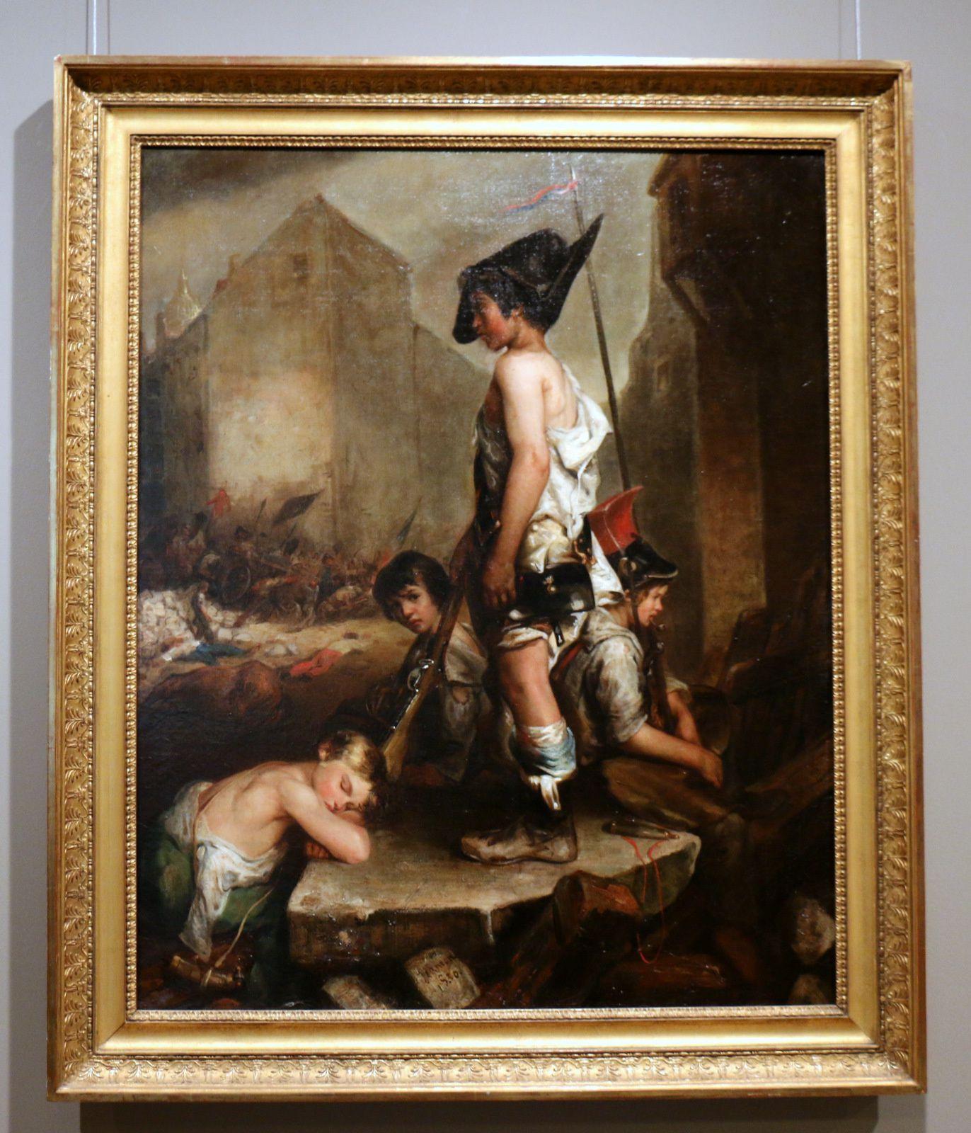 Les petits patriotes, huile sur toile de Philippe-Auguste Jeanron