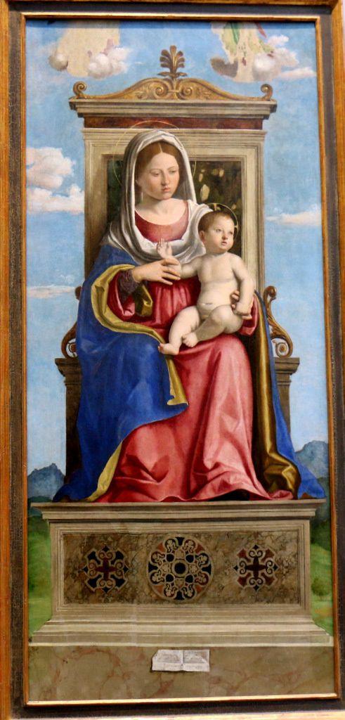 Vierge à l'Enfant entre St Jacques et St Jean, par Cima Da Conegliano