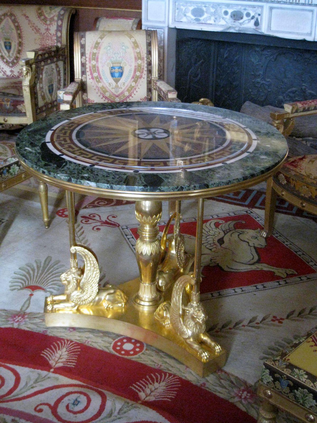 Le salon doré (1/3), château de Malmaison