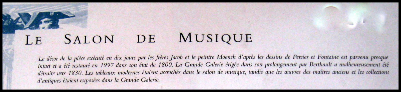 Salon de musique du château de Malmaison, candélabres