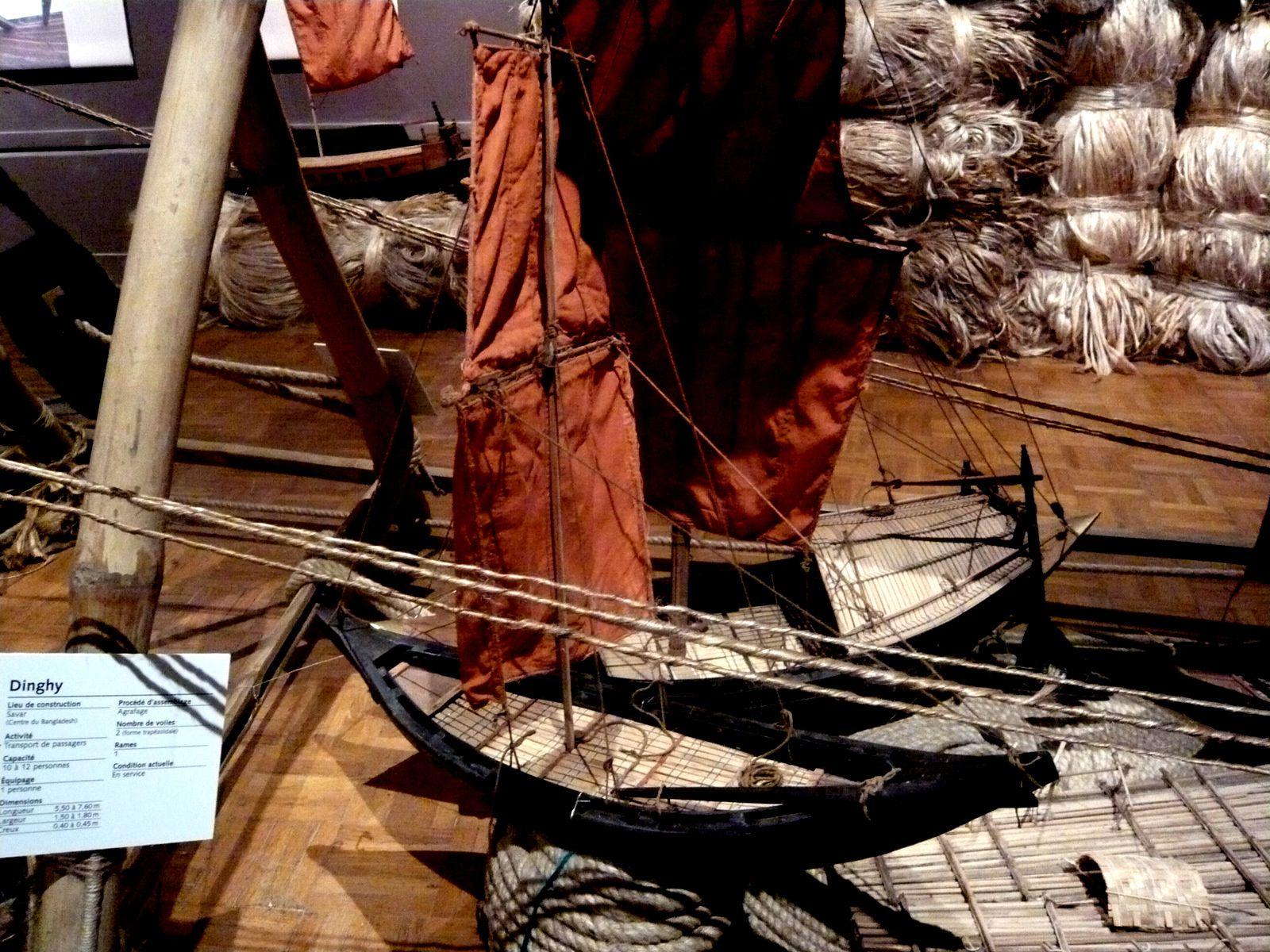 Dinguy, voiles anciennes du Bengladesh
