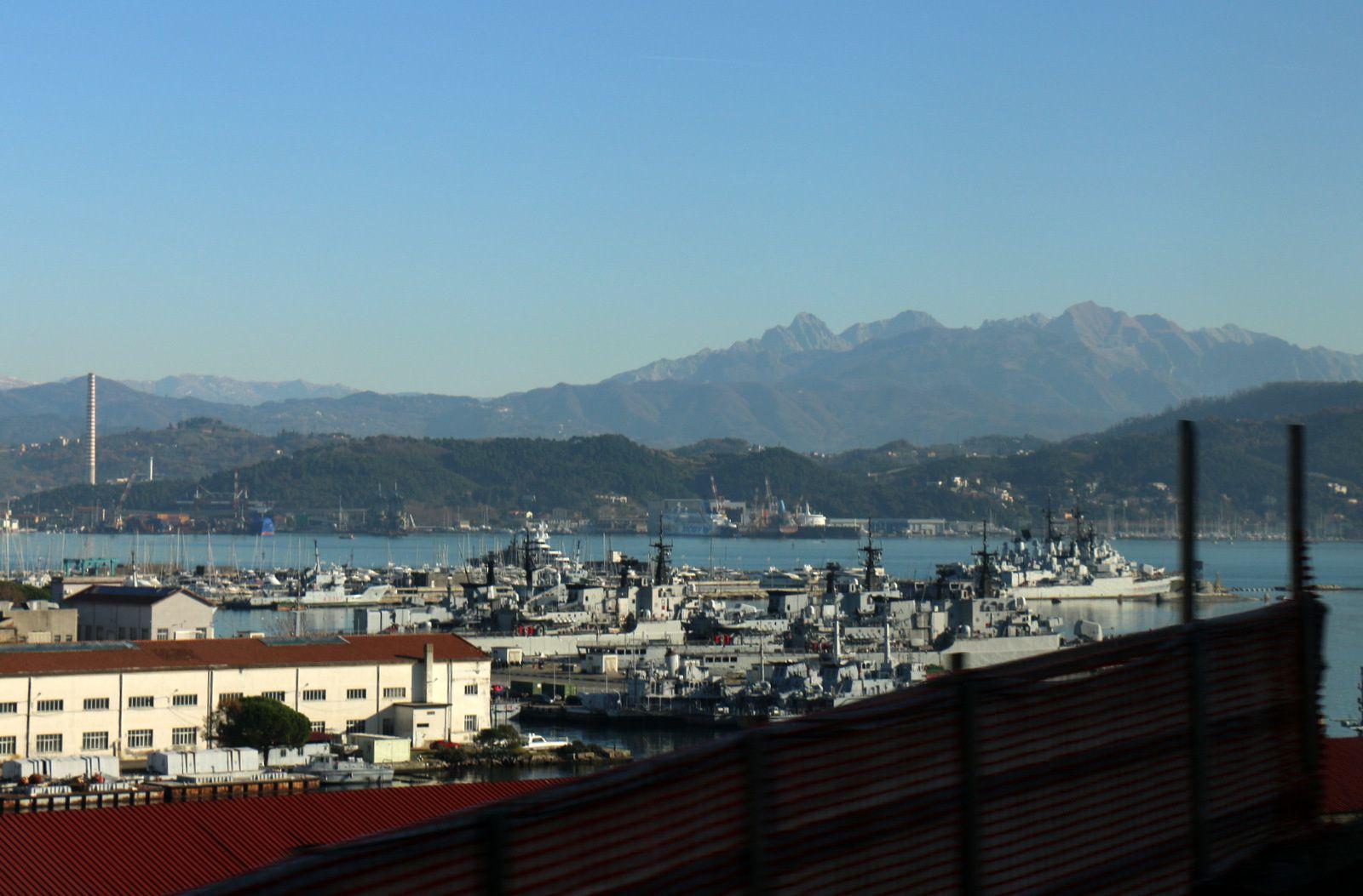 Le port militaire de La Spezia