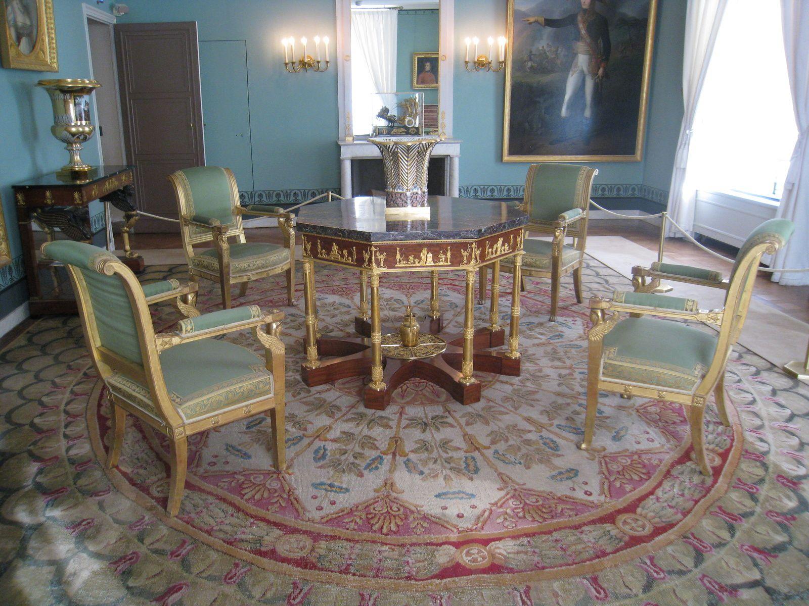 Le salon de l'Empereur, château de Malmaison