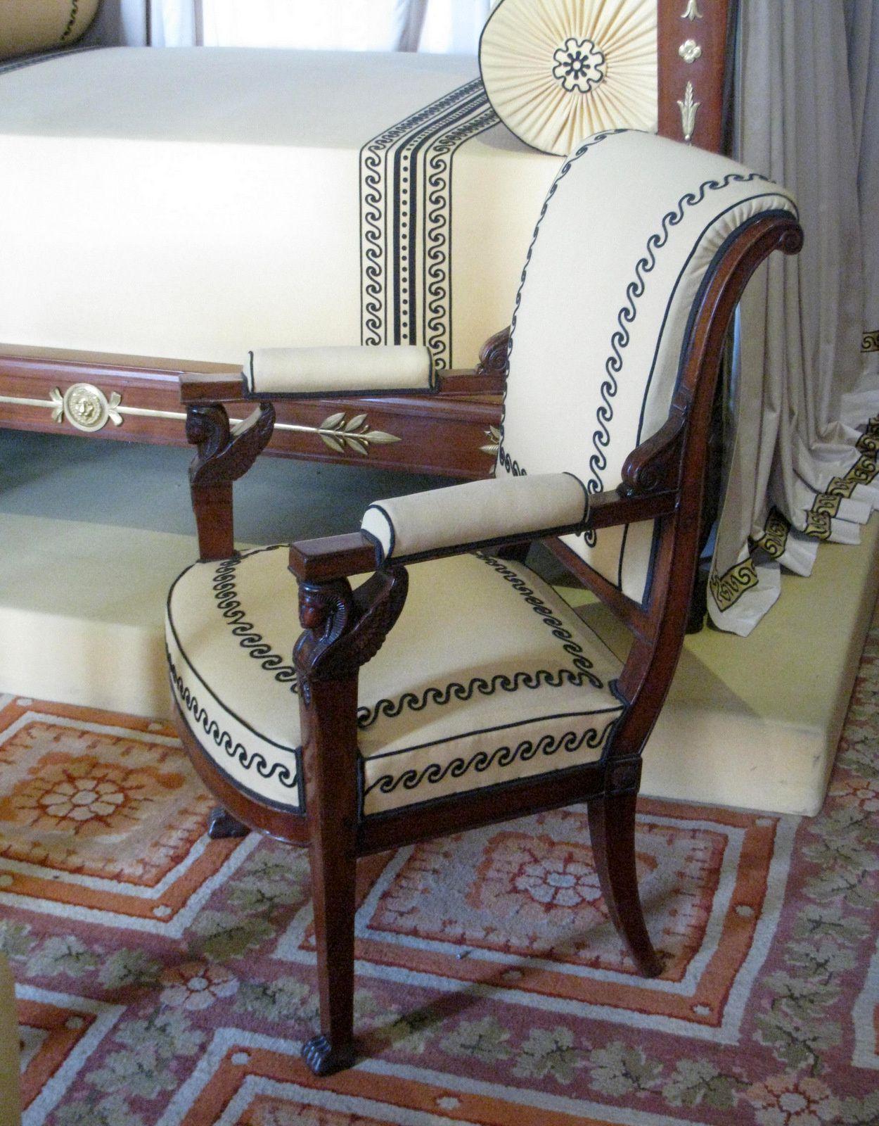 La chambre à coucher de l'Empereur, château de Malmaison