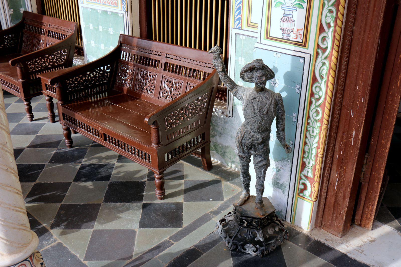 """Hôtel """"Heritage"""" à Mandawa (Rajasthan, Inde), décoration intérieure"""