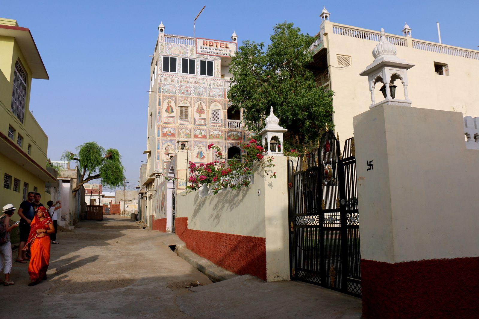 "Hôtel ""Shekhawati"" à Mandawa (Rajasthan, Inde), fresques"