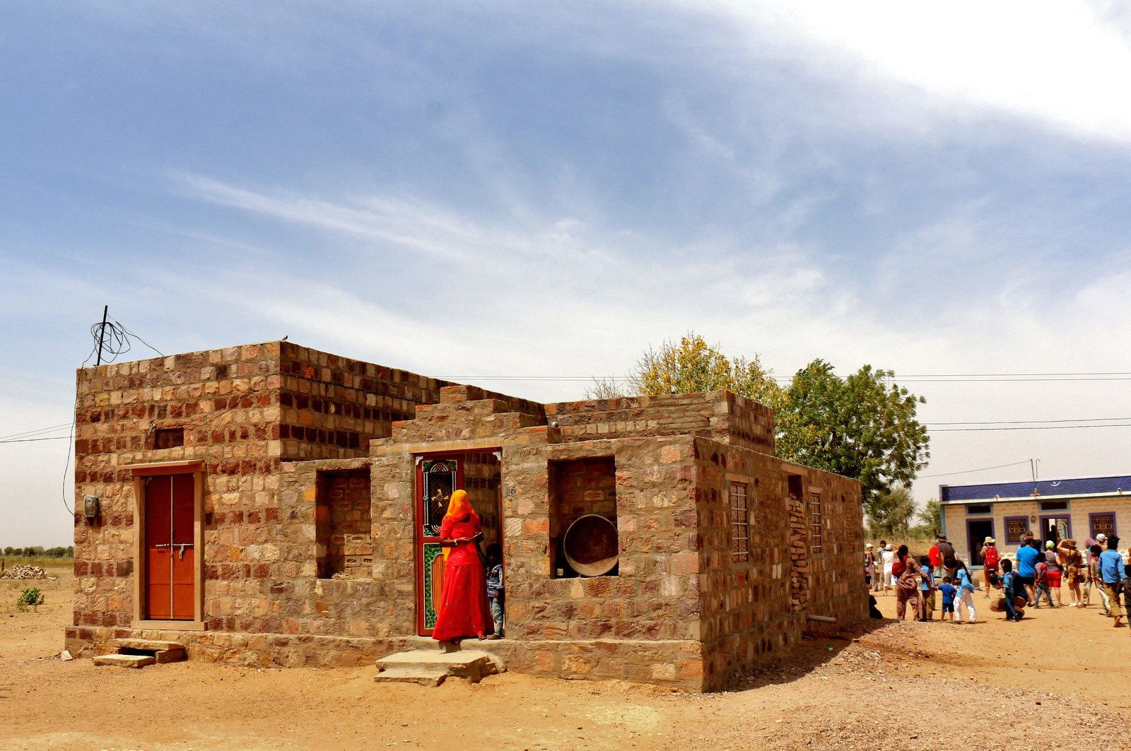 Un village du désert du Thar, Rajasthan (Inde)