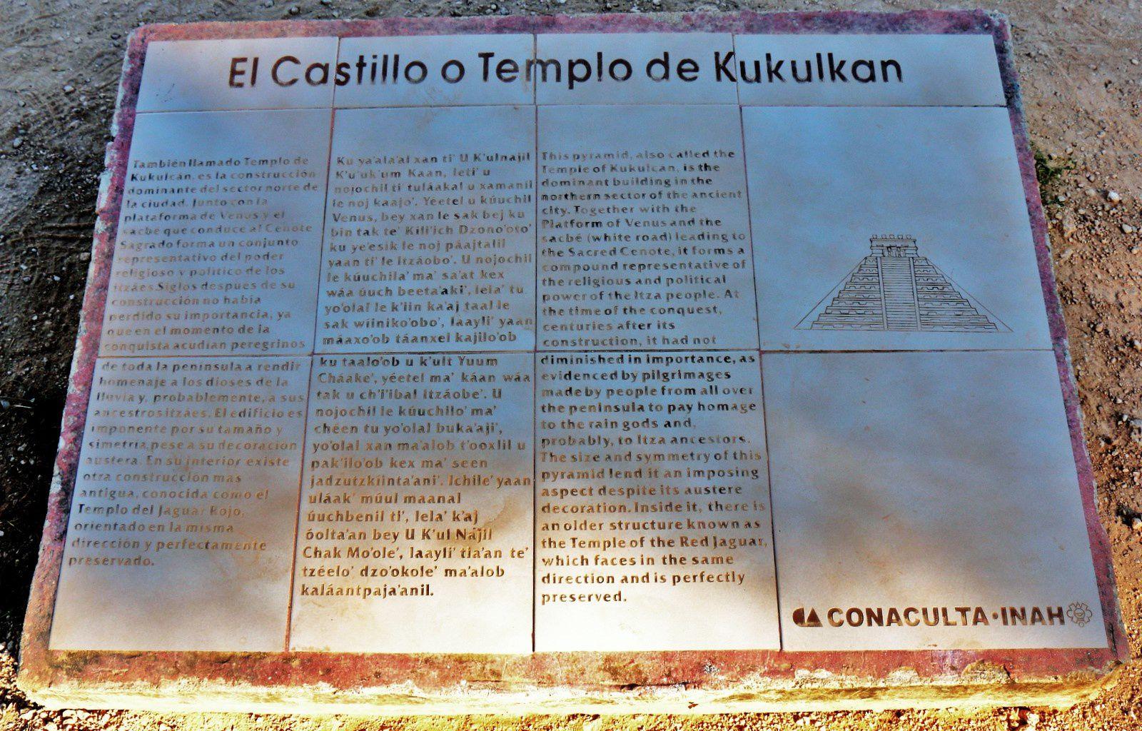 Pyramide de Kukulcán (El Castillo), Chichen Itza (Mexique)