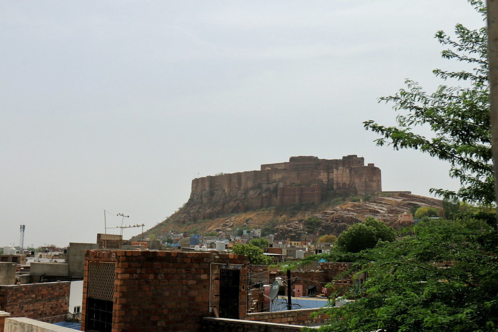 Sur la route entre Jaisaimer et Jodhpur, Rajasthan (Inde)