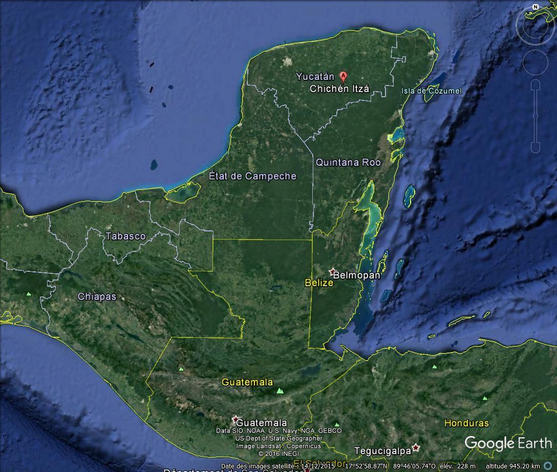 La plate-forme des Jaguars et des Aigles, Chichen Itza (Mexique)