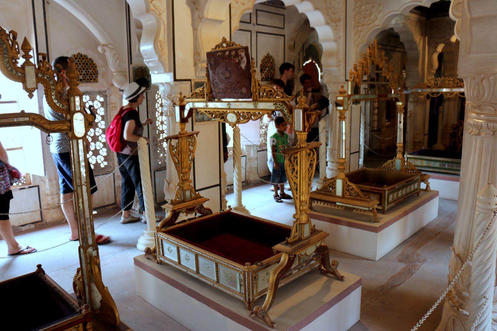 Salon or, musée de Mehrangarh (Jodhpur, Inde)