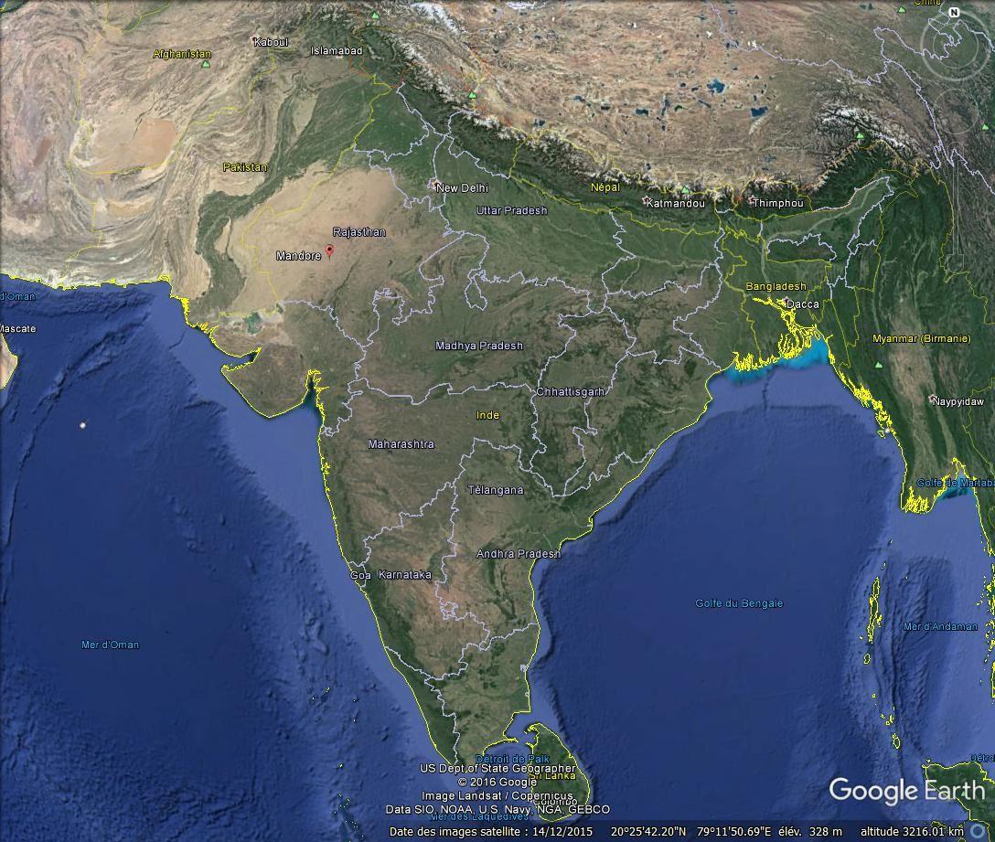 Galerie des Dieux et des Héros, Mandore (Inde)