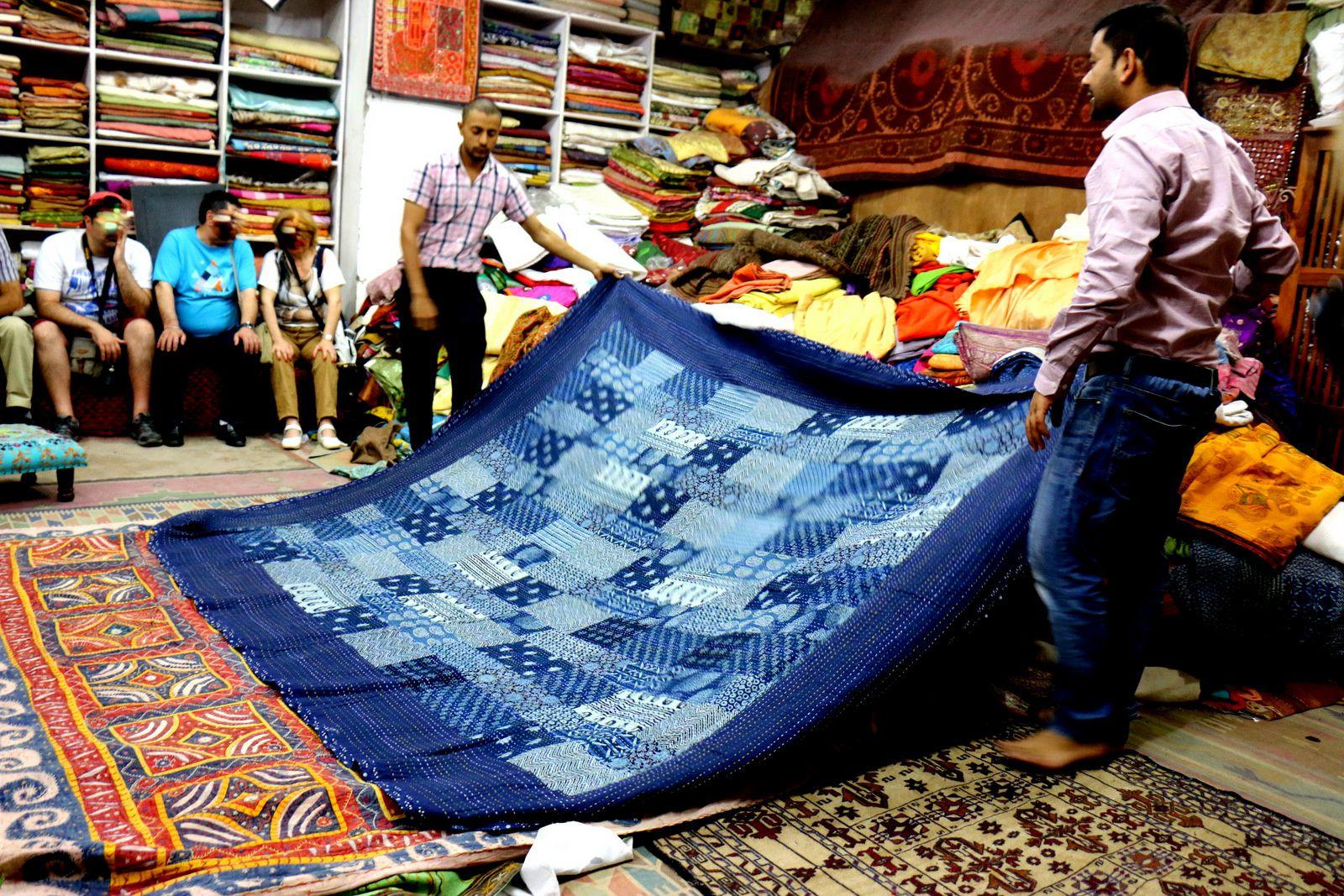 Maharani Textile (salle de vente des textiles), Jodhpur (Inde)