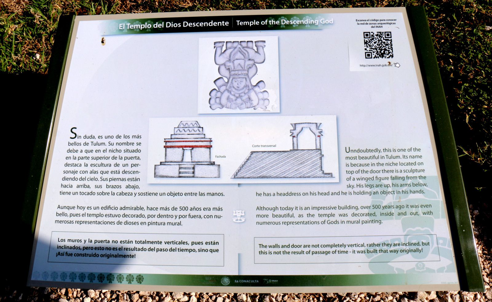 Temple du Dieu Descendant et Iguane, site archéologique de Tulum (Mexique)