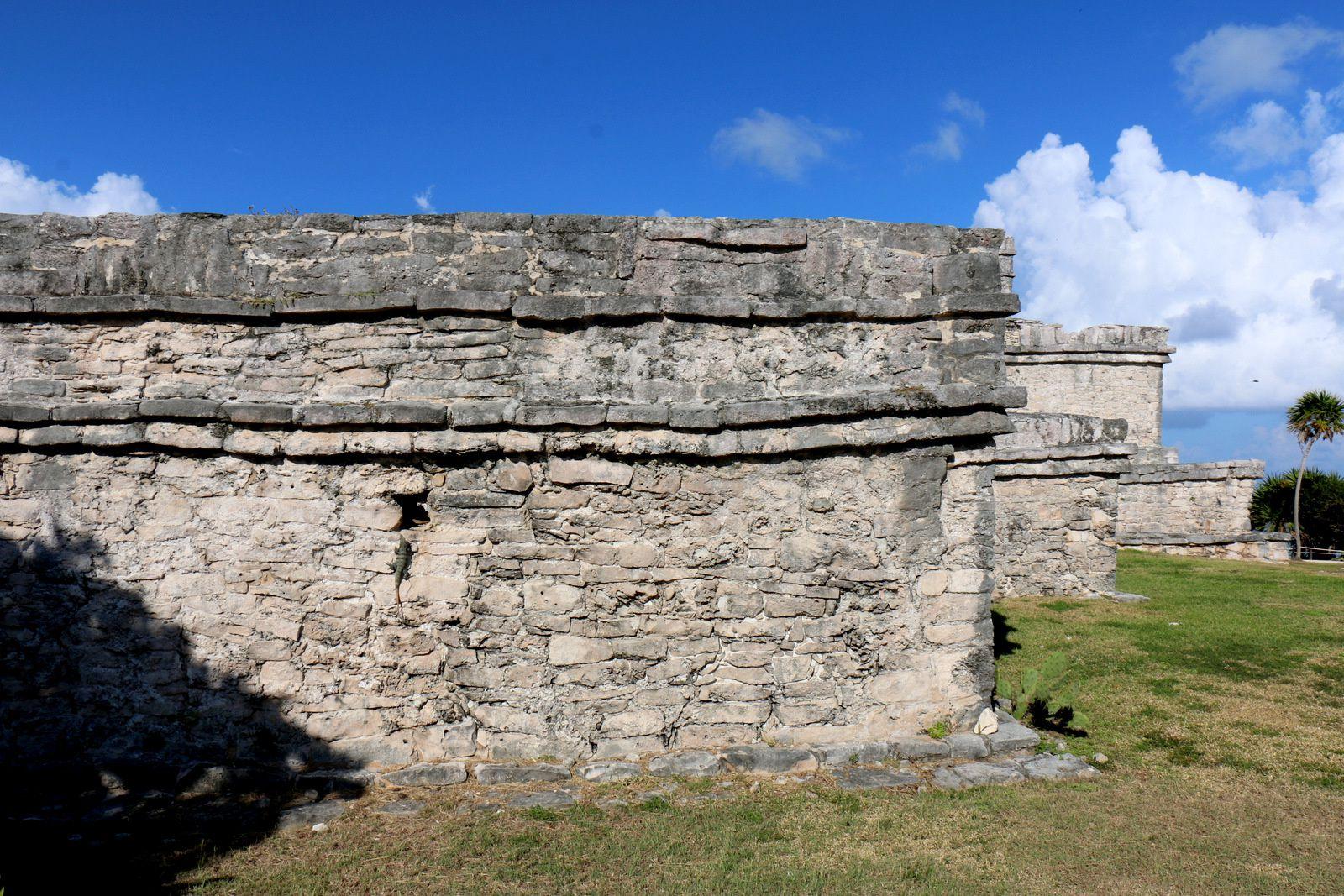 Maison des colonnes, site archéologique de Tulum (Mexique)