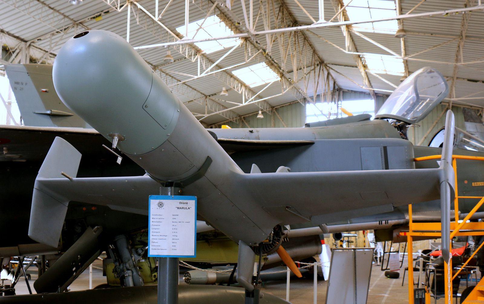 Drone Marula, musée de l'aviation française Clément-Ader