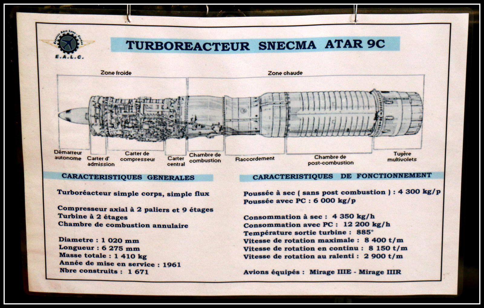 Turboréacteurs du Concorde et Snecma Atar 9C