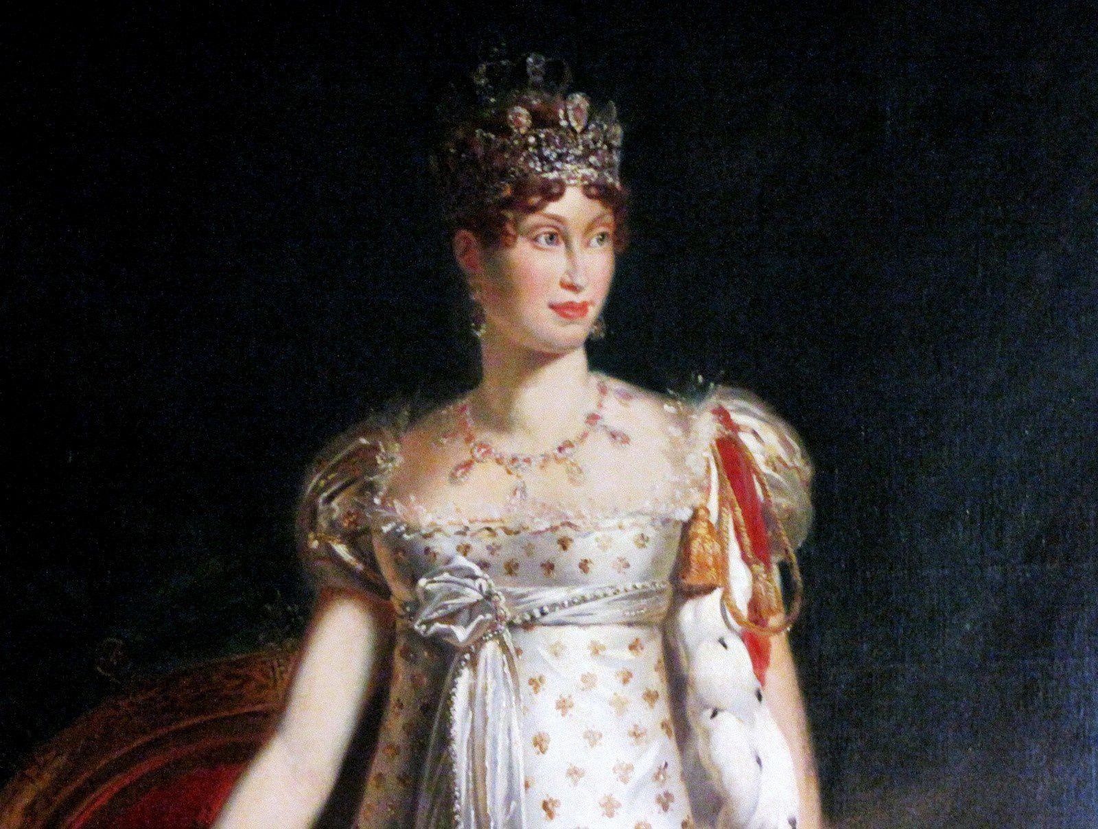 Portrait de Marie-Louise par baron Gérard et horloge