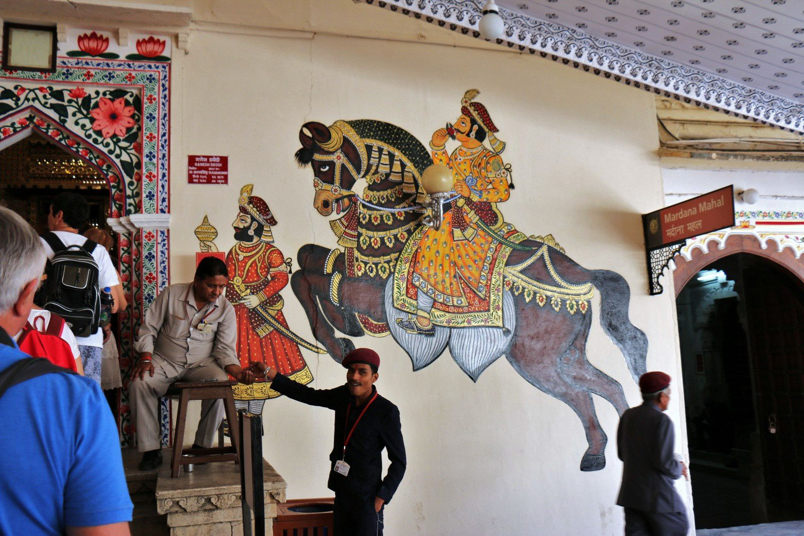 Nonnes svetambaras masquées, City Palace Museum (Udaipur, Inde)