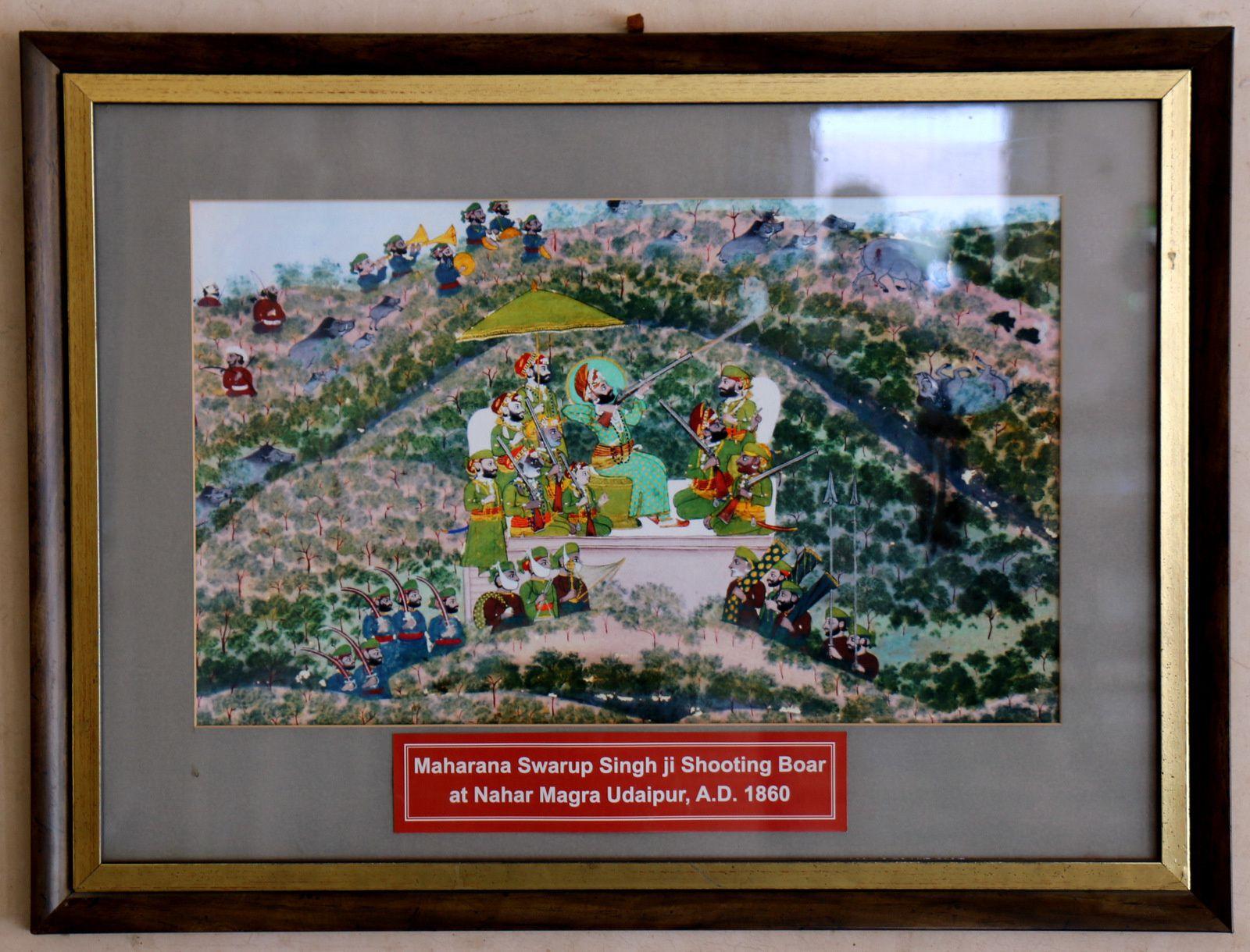 Maharanas Rajh Singh ji I, Swarup Singh ji et Sangram Singh ji II