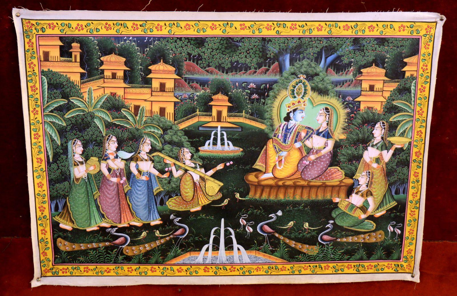 Dessins sur tissus (2/2), hôtel Chandralok (Udaipur, Inde)