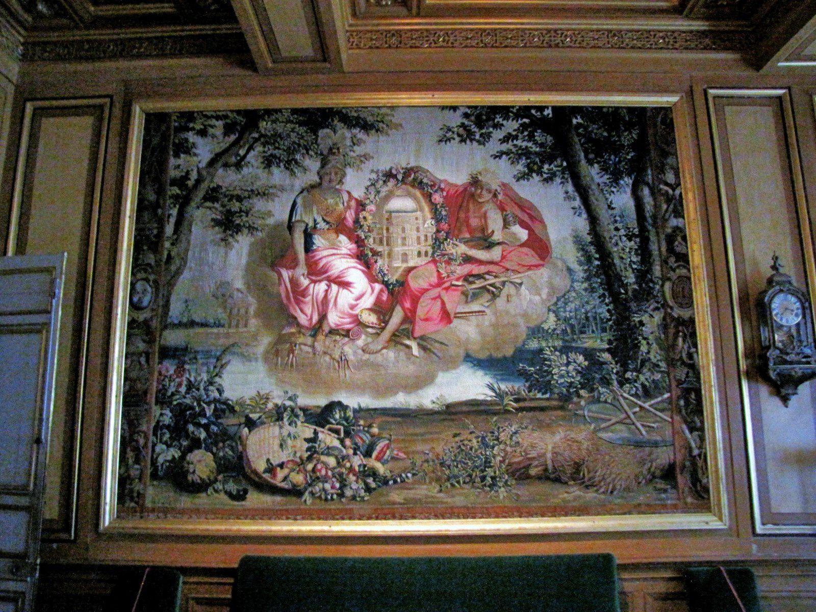 Tapisseries de l'antichambre de l'Impératrice, château de Fontainebleau