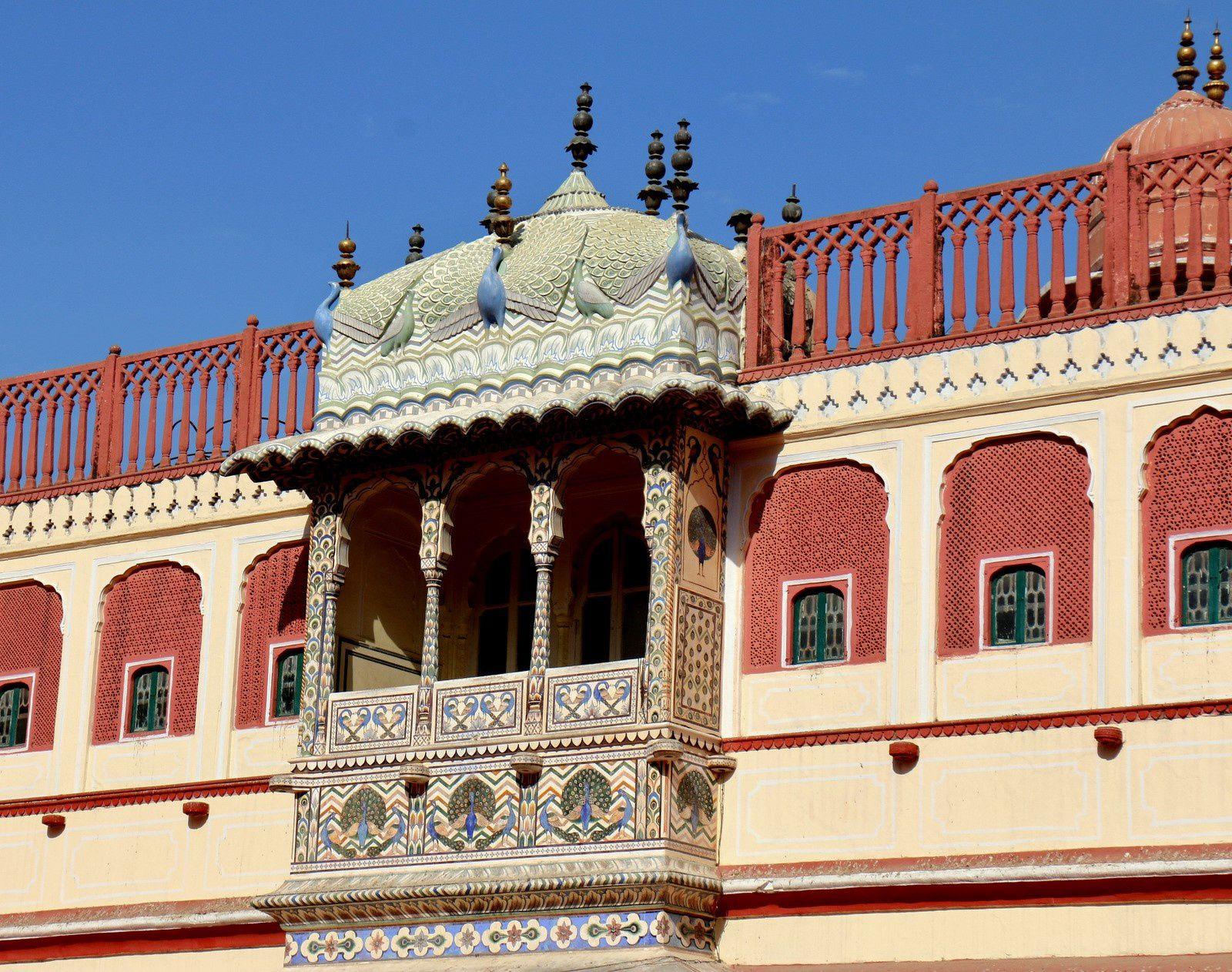City Palace de Jaipur, dans la cour du Chandra Mahal