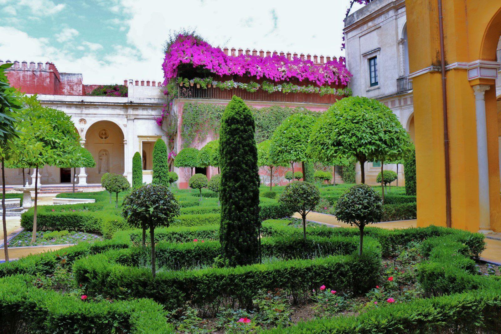 Dans les jardins de la maison de Pilate, Séville